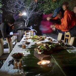 谷關泰好玩獵人體驗營_星光晚餐_餐桌